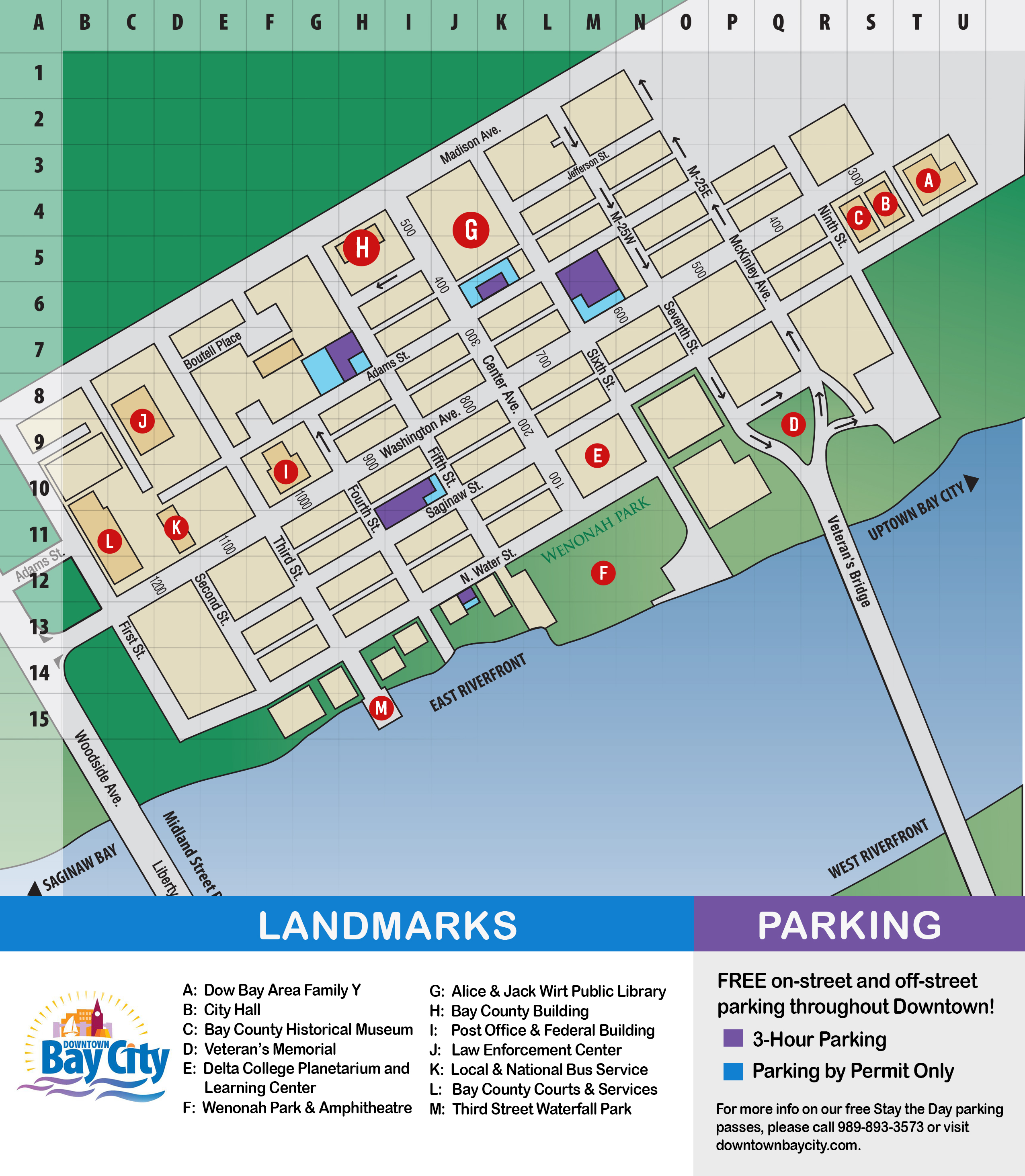 Bay City Map Downtown Map – Downtown Bay City